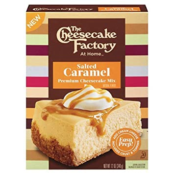 The CHEESECAKE FACTORY At Home Salted Caramel Premium Cheesecake Mix (1-BOX) (