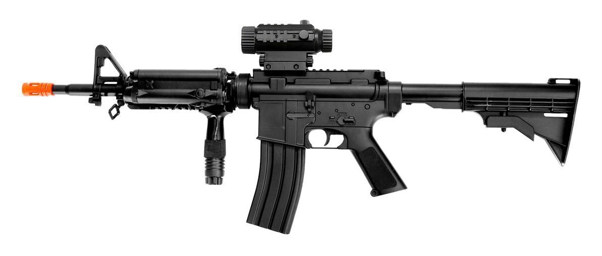 Well D92H M4A1 Airsoft Electric Rifle Gun AEG Full Auto with Tactical Accessories