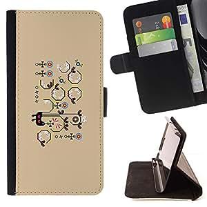 Momo Phone Case / Flip Funda de Cuero Case Cover - Patrón Beige Dibujo de la historieta - LG G4c Curve H522Y (G4 MINI), NOT FOR LG G4