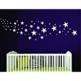 Star Wall Decal, Star Stickers for Nursery or Bedroom - Design Pack Of 109 Stars