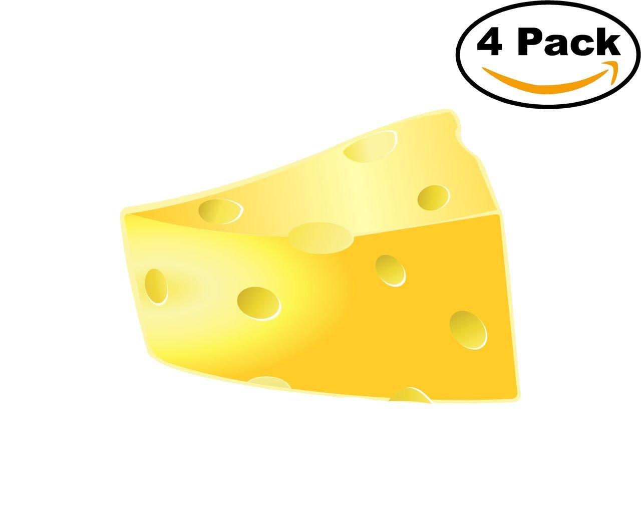 Amazon.com: Cheese 4 Stickers 4X4 Inches Car Bumper Window Sticker Decal 54