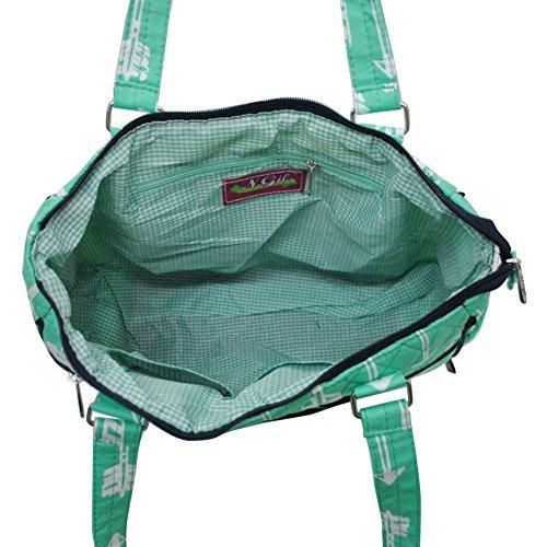 Style Quilted Handbag mint Arrow Hobo Fashion NGIL dExwOzqznW