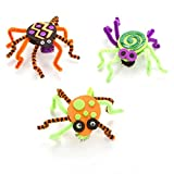 Foamies Foam Activity Bucket: Pom Pom & Chenille Spiders, Makes 15 Halloween Craft for Kids
