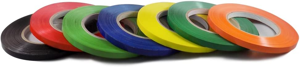 T.R.U. UPVC-24BS Rainbow Poly Bag Sealing Tape: 1/2 in. x 180 yds. (Pack of 3)