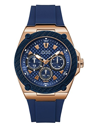 GUESS-Mens-Legacy-Blue-and-Gold-Tone-Watch