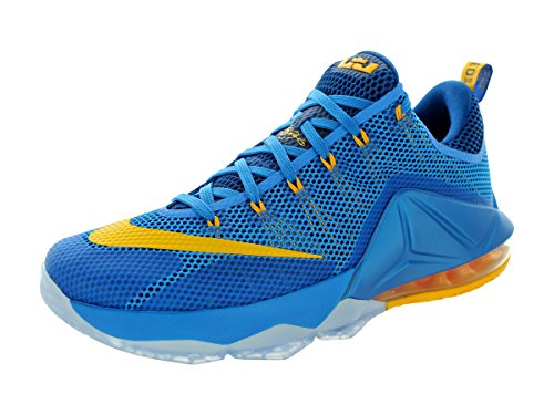 Shoes Low Basketball Photo Nike Bl Gold 724557 Sneakers Unvrsty Mens XII Blue Trainers Lebron Gym wBBCR