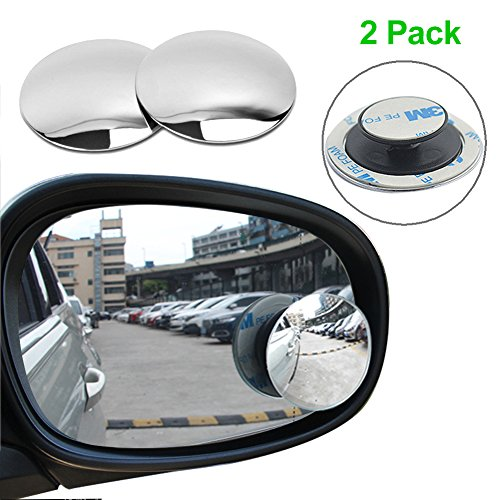 "Blind Spot Mirrors , 2"" Round Convex HD Glass Rear View Mirror, Wide Angle Side Car Door Mirror with 360 Degree Rotatable, for All Car Driving Safety( 2 Pack)"