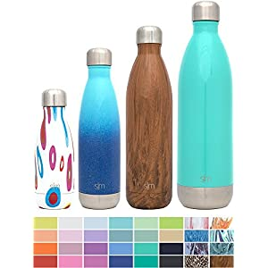 Simple Modern 9oz Wave Kids Bottle - Vacuum Insulated Double Wall 18/8 Stainless Steel Hydro Water S'well Flask - Concept Collection - Fiesta