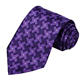 KissTies Mens Extra Long Tie Dutch Windmill Pattern Necktie, Purple (63'' XL)