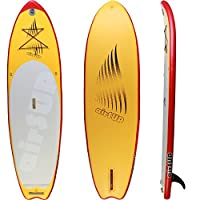 """airSUP 9'6""""x32""""x4"""" Inflatable SUP 15psi Stand Up Paddleboard, Roll It up and Store in the Bag! Yellow, Super Light! from airSUP"""