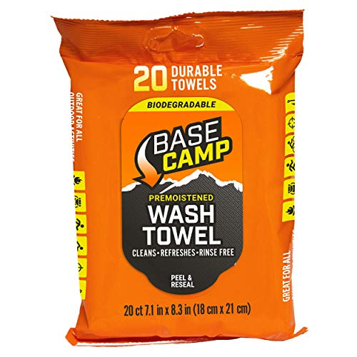 - Dead Down Wind Base Camp Biodegradable Wash Towels - 20 Count