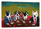 iCanvasART Three Boston Terriers and a French Bulldog Canvas Print, 40'' x 1.5'' x 60''