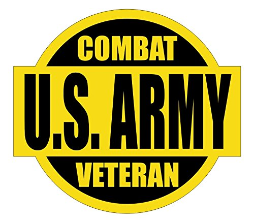 US ARMY Combat Veteran Hard Hat / Helmet Sticker Decal Label (Army Label)