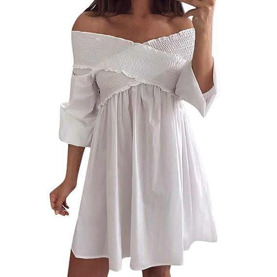 Vectry Vestido Hombros Descubiertos Vestidos Boda Mujer Vestidos De Fiesta Cortos Sexy Vestidos Casuales Vestido Escote V Vestidos De Verano Vestido: ...