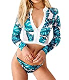 Surf Rashguard Women Protection Surf Rash Guard Swimming Long Sleeve Swimsuit, Style a, M=US S