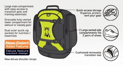 Amphipod Race-Lite Transition Pack Runners Backpack Marathon - Black / Green by Amphipod (Image #1)