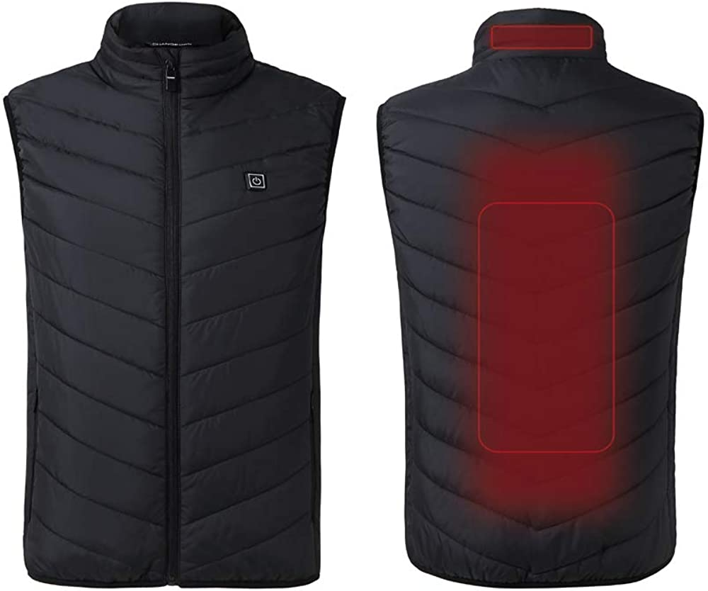 climafusion Heated Vest for Men Women Lightweight Heating Coat Electric Heated Jackets for Men Black