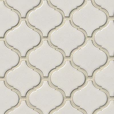 Bianco Arabesque 6mm Ceramic Mosaic Tile