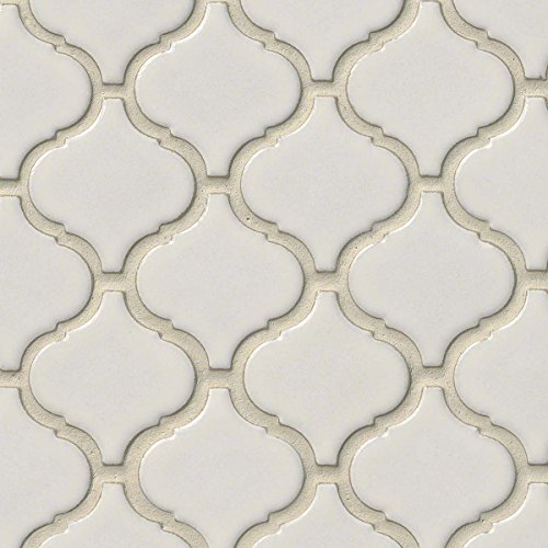 Bianco Arabesque 6mm Ceramic Mosaic
