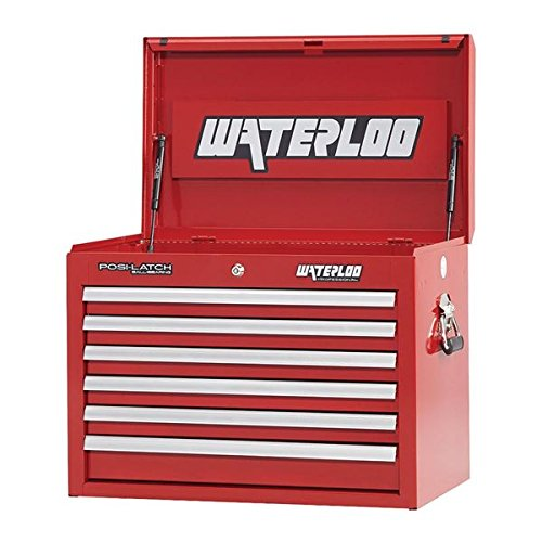 Waterloo Professional Series 6-Drawer Tool Chest with Internal Tubular Keyed Locking System, Red Finish, 26