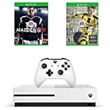 Microsoft Xbox One S Sports Game Bundle : Microsoft Xbox One S 500 GB – Robot White, Madden NFL 18 and FIFA 17