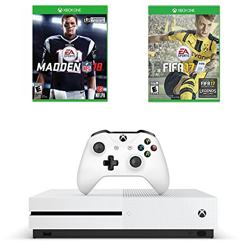 513PhcH wpL - Microsoft Xbox One S Sports Game Bundle : Microsoft Xbox One S 500 GB - Robot White, Madden NFL 18 and FIFA 17