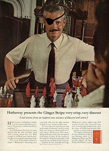 Hathaway presents the Ginger Stripe Shirt very crisp very discreet ad 1965 (Ginger Crisp)