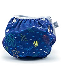 Nageuret Reusable Swim Diaper, Adjustable & Stylish Fits...