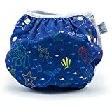 #9: Nageuret Reusable Swim Diaper, Adjustable & Stylish Fits Diapers Sizes N-5 (8-36lbs) Ultra Premium Quality For Eco-Friendly Baby Shower Gifts & Swimming Lessons (Sea Friends)