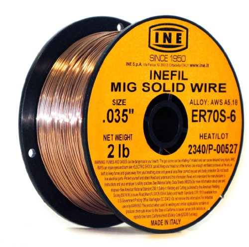 - INEFIL ER70S-6 .035-Inch on 2-Pound Spool Carbon Steel Mig Solid Welding Wire