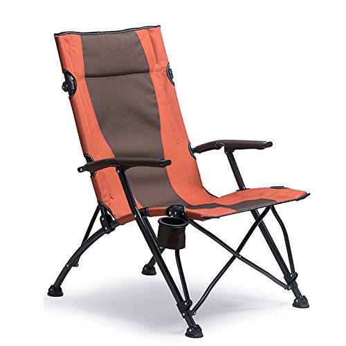 Camping Chairs WSSF- Outdoor Folding With Cup Holder Portable High Backrest Recliners Hospital Accompany Beach Fishing Chair