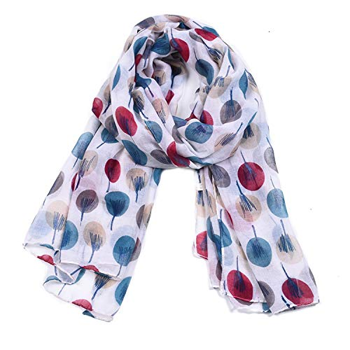 - Woogwin Women's Scarves Lady Light Soft Fashion Floral Brids Print Scarf Wrap Shawl (One Size, Dot)