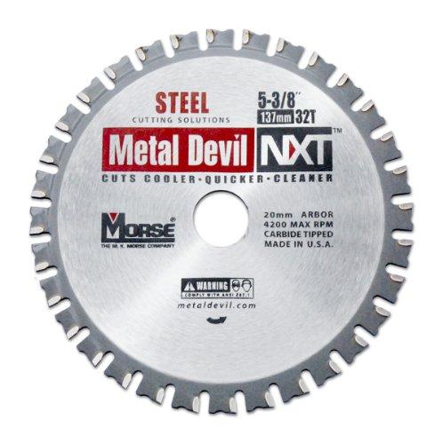 MK Morse CSM53832NSC Metal Devil NXT Circular Saw Blade,  5-3/8-Inch Diameter, 32 Teeth, 20mm Arbor, for Steel Cutting