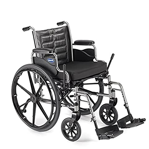 Lightweight Manual Wheelchair (Invacare Tracer EX2 - Size 18 x 16 - Medium, TREX28RP w/Swingaway Footrests with Heel Loops, T93HA & Removable Desk-Length Arms)