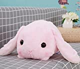 Pinjewelry Home Decoration Soft Toys Cuddly Laying Down Rabbit Plush Toy Rabbit Stuffed Animal Soft Toy Gift Children Toy (Pink,40cm Tall)