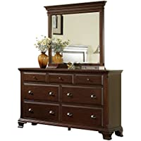Elements Brinley Dresser with Mirror in Cherry