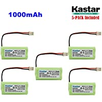 Kastar 5-PACK AAAX2 2.4V 1000mAh 5264 Ni-MH Rechargeable Battery for BT-166342 BT-266342 BT-283342 AT&T EL51100 EL51200 EL51250 EL52200 EL52210 EL52250 EL52300 EL52350 EL52400 EL52450 EL52500 EL52510