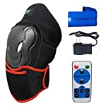 CREATRILL Heated Knee Brace Wrap Support with Remote Control w/Rechargeable 7.4V 2600mah Battery, Far Infrared Heating Pad and Moist Heat for Knee Pain Relief, Stiff, Injury, Cramps, Arthritis, Strai