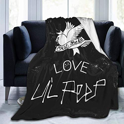 "Lil Peep Cry Baby Blanket Novelty Throw Blanket 50""X40"" Flannel Micro Fleece Blanket for Sofa Home Camping Travelling Blanket"