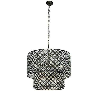 Whse of Tiffany RL8067 Starke Modern Antique Bronze Chandelier