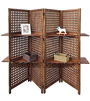 topfurnishing 3 way display 4 panel heavy duty indian screen 2 rh amazon co uk 5 shelf bookcase oak 2 shelf bookcase