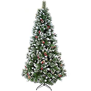 Amazon.com: HOLIDAY STUFF Frosted Sweet Pine Decorated ...