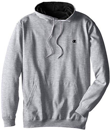 Champion Men's Big-Tall Fleece Pullover Hoodie, Grey Heather, (Big Tall Hooded Sweatshirts)