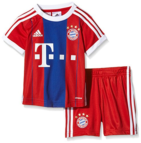 adidas Baby Trikot und Short FC Bayern Home Kit, Fcb True Red/Collegiate Royal/White, 80, F48528