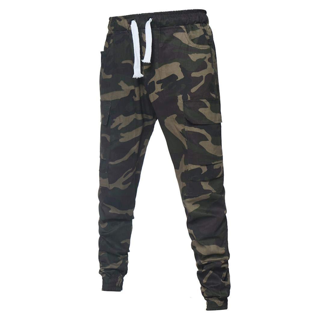 ♚ Pantalones de Camuflaje para Hombre, Sport Lashing Belts Casual Loose Sweatpants Drawstring Pantalones Absolute: Amazon.es: Ropa y accesorios