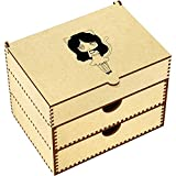 Azeeda 'Kitten Girl' Vanity Case / Makeup Box (VC00004323)