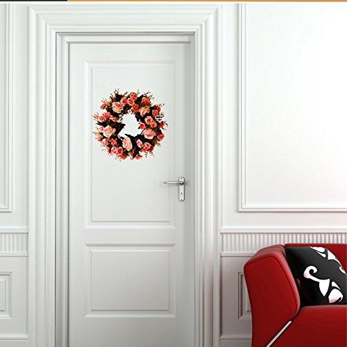 Meiyiu 45cm 18-inch Silk Flower Door Wreath Spring Summer Garden Wreaths Decorating for sitting room, hotel, wedding scene,wedding car, villa decoration by Meiyiu (Image #2)