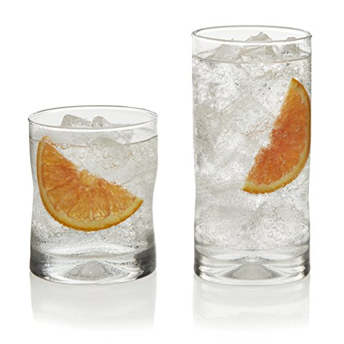 Libbey Impressions 16 Piece Beverage Set, Item 1786426, Clear