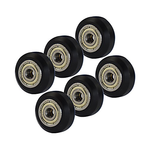 3D Printer POM V Slot Wheel Plastic Pulley Linear Roller Bearing Comgrow 6pcs