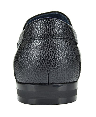 Bruno Marc Mens Harry-01 Robe Penny Loafers Chaussures Noir Veau